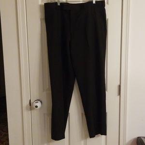 Perry Ellis mens black dress pant 38x32